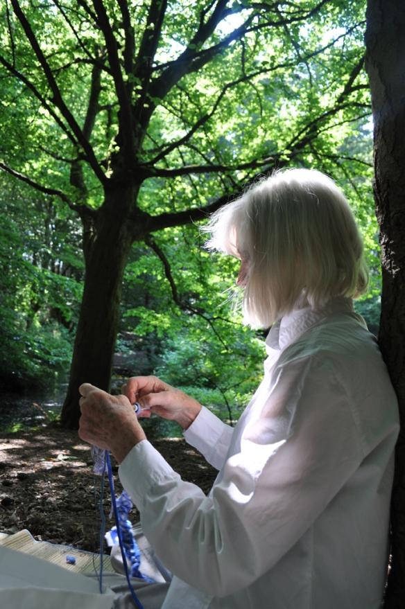 Crocheting in Seattle's urban forest