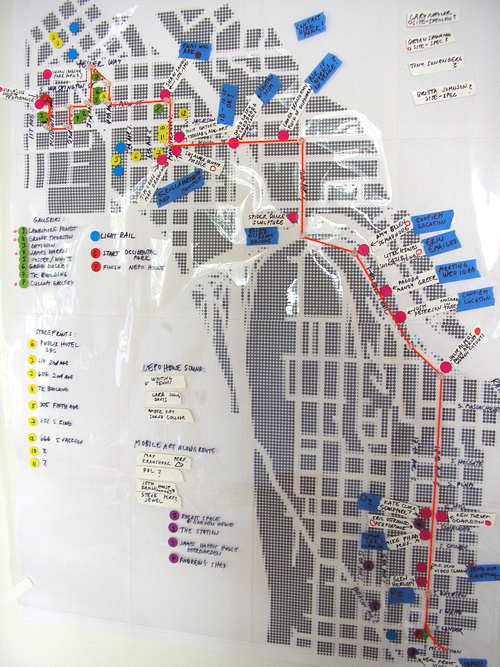 Map of NEPO 5K through the city